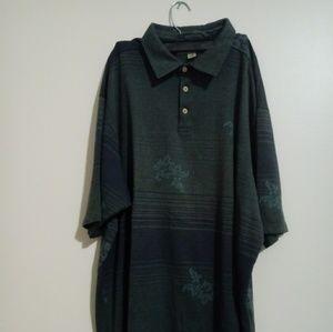 Tommy Bahama Shirts - Tommy Bahama Green Short Sleeve Polo Sz XXL
